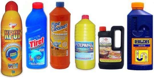 средства для чистки канализации и засоров