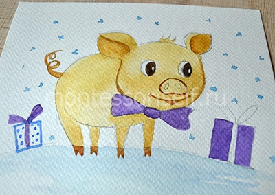 Прорисовываем детали свинки