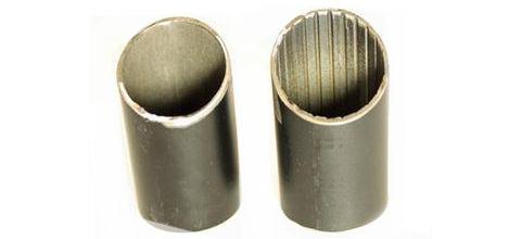 Трубы с канавками или пропилами для изготовления рулей кикскутеров
