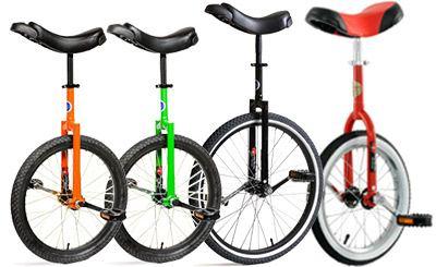 Унициклы для начинающих с разным диаметром колес