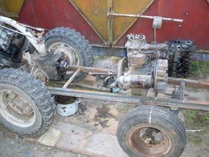 Трактор своими руками начинается с выбора рамы и установки двигателя.