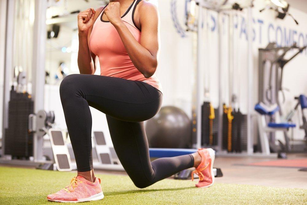 Табата для похудения - выпады