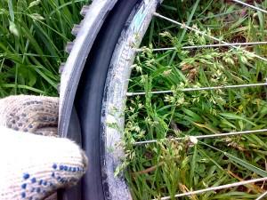 Снимаем покрышку на велосипеде